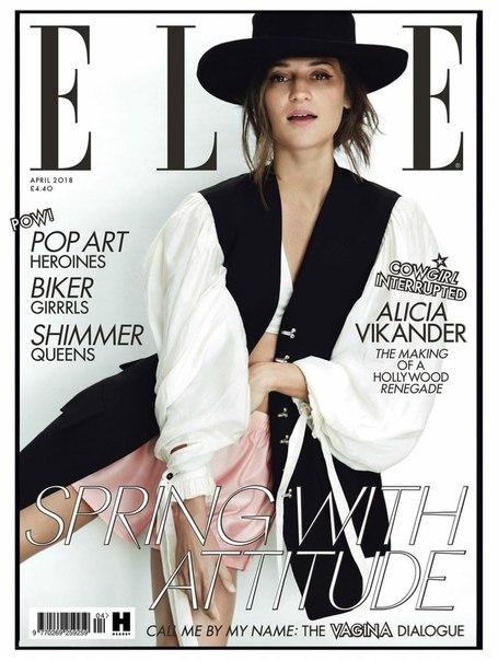 Алисия Викандер в съемке для апрельского выпуска Elle UK / 2018