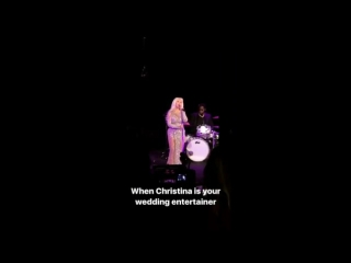 Christina Aguilera singing at the wedding   16 сентября 2017