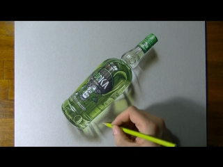 Рисуем бутылку Oddka (time-lapse)
