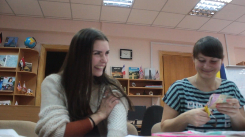 Darija, Artjom (ich) und Anna VindobonaCamp 27.01.2018