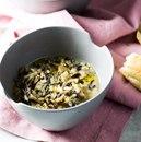 Зимний суп с грибами, луком и рисом