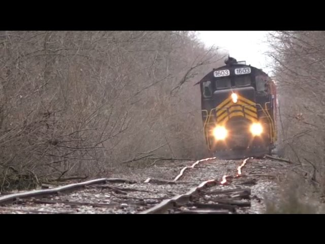 Blasting down bad track Doubleheader on the NDW Railway (Maumee and Western)