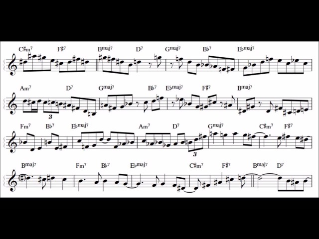 Wynton Marsalis - Marcus Roberts Giant Steps Transcription