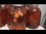 Заготовки на зиму,компот ассорти.(Йошта,абрикос,малина,клубника,вишня)