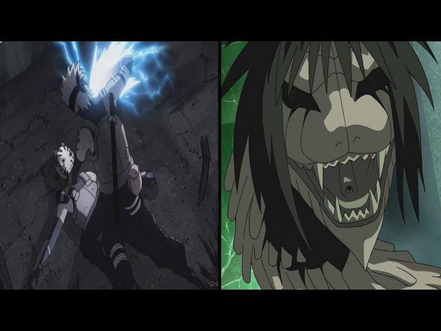 Какаши против Ямато, пытается украсть Шаринган для Данзо. Орочимару в засаде