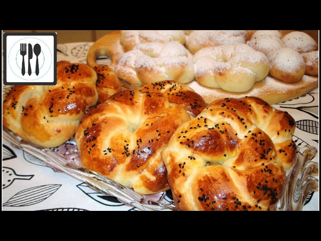 АЧМА - турецкие булочки. Сладкие булочки из пышного тестаTatli acma tarifi