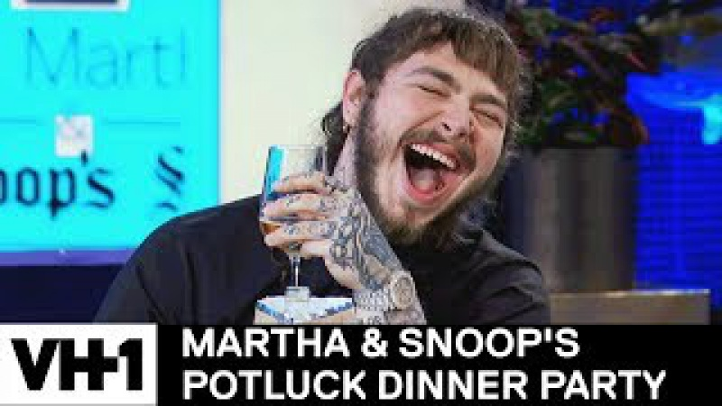 Martha Stewart Wonders Why Post Malone Came To Dinner | Martha Snoop's Potluck Dinner Party