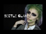 halloween beetlejuice glam makeup tutorial