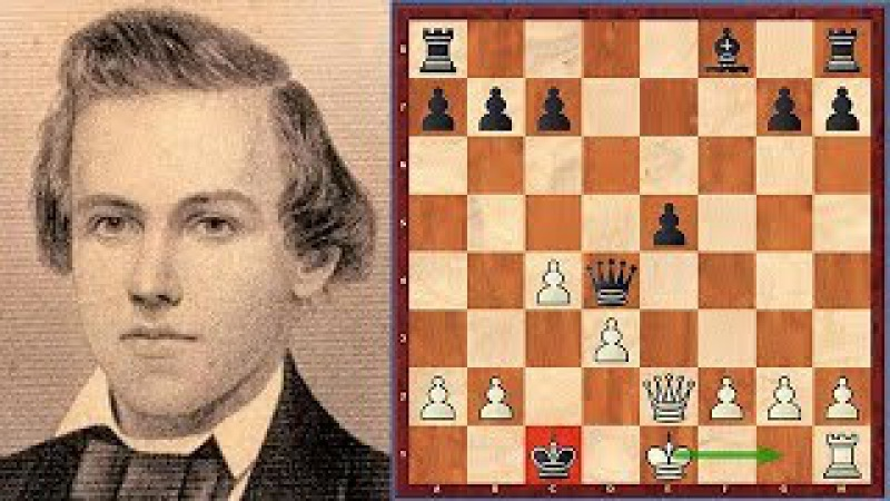 Must See! Morphy Checkmates His Opponent By Castling Kingside