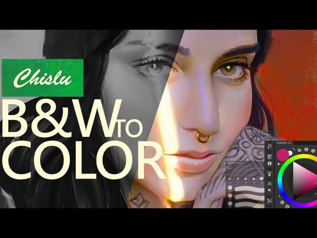 Black White to Colors - Portrait Painting