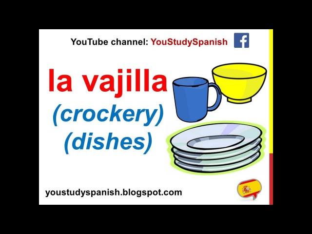 Spanish Lesson 64 - KITCHEN UTENSILS in Spanish Vocabulary for kids Utensilios de cocina para niños