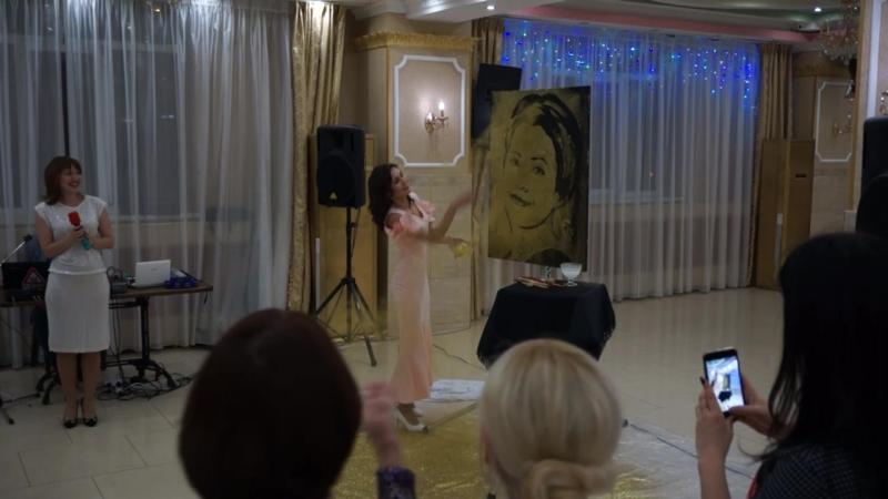 Звездное шоу Студия Санрайз художник Ильмира Исмагилова ресторан Мамоуния Лаундж Фрагмент выступления