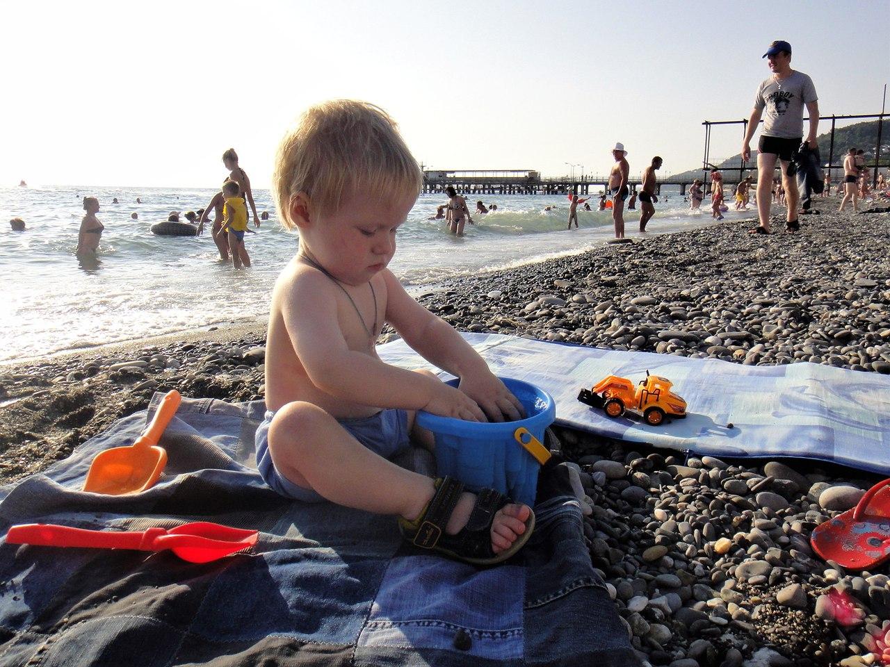 ребенок, море, лоо
