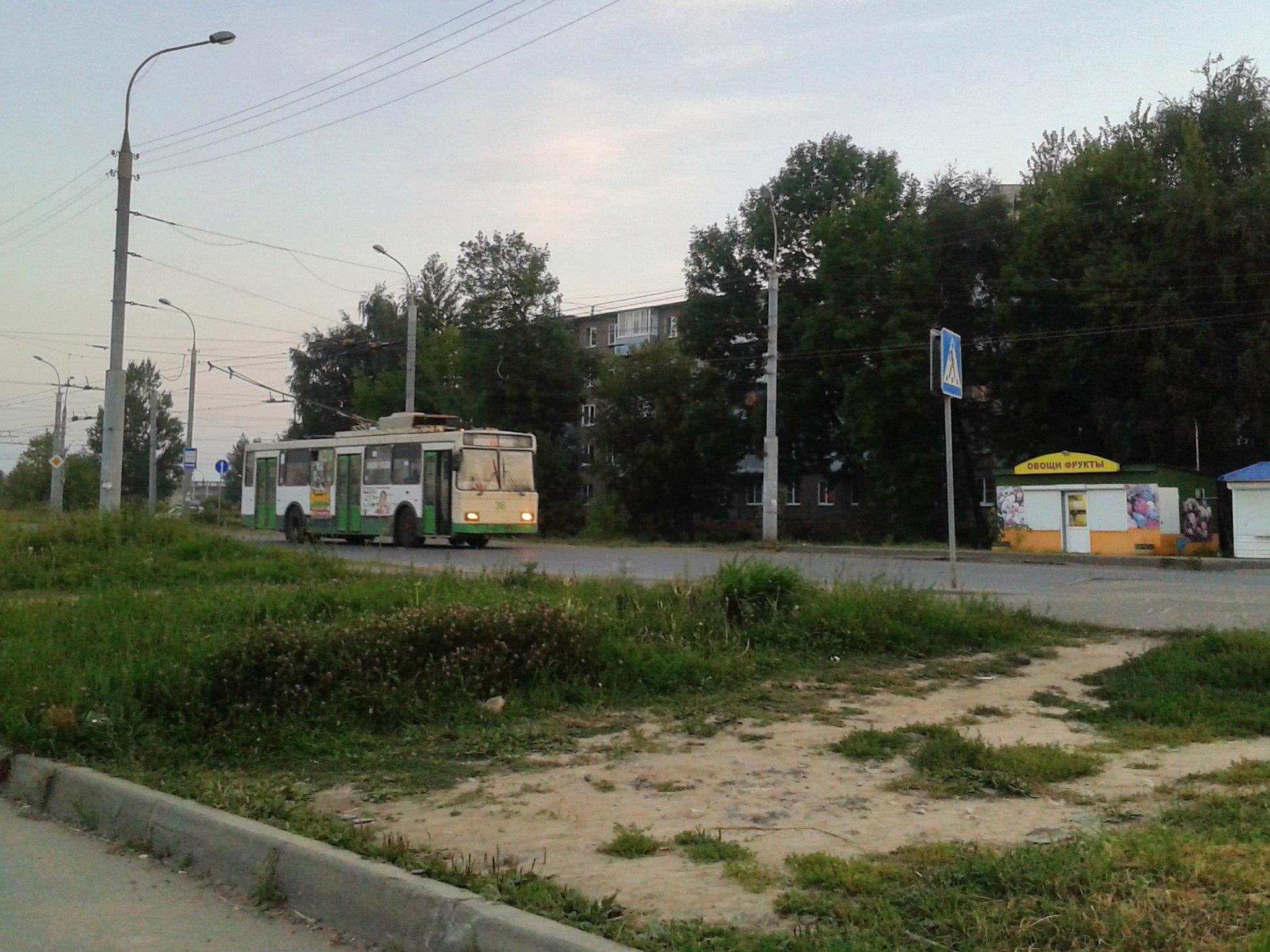 Троллейбус №1. Конечная. ул.Расторгуева