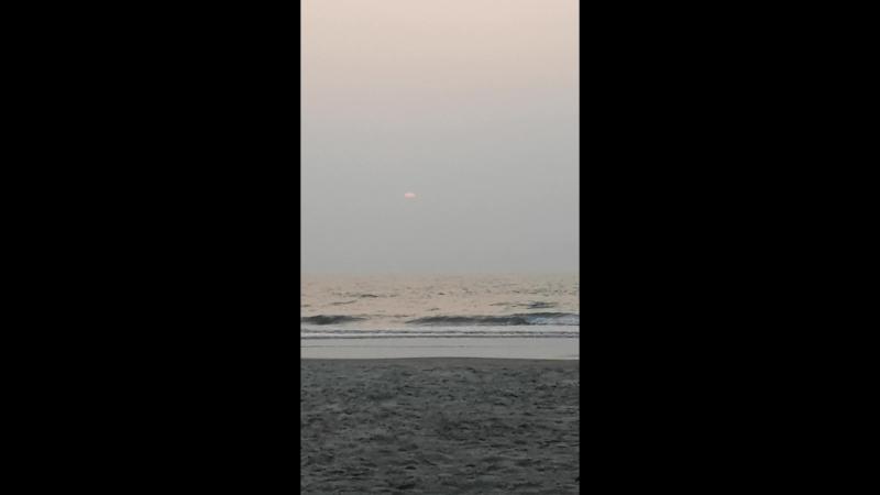 Sunset in Morjim. Goa.