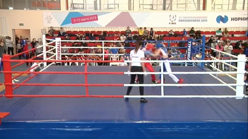 Grebenyuk- sinii - Genze - krasnii. Kickboxing . Polufinal. FULL