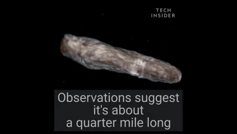 Science Insider.Os astrônomos descobriram um objeto de aparência bizarra que veio de fora do nosso sistema solar.