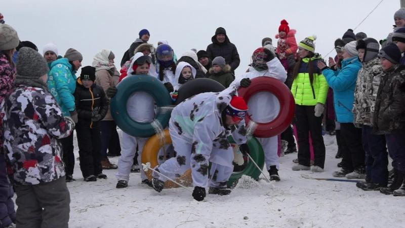 Конкурс зимних драндулетов в День Праздника коня, д. Ерофейка