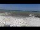 На море в Сочи Шторм июль 2017 Пляж в Адлера