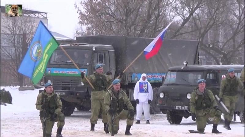 Показательные выступления 56 ой десантно-штурмовой бригады в городе Ряжске.[1]