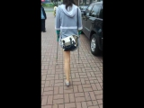 amputee girl on crutches