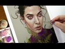 Trying Gouache, time lapse painting of KillerColours