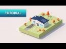 C4D TUTORIAL | Simple Cute House (Ultra-Beginner)