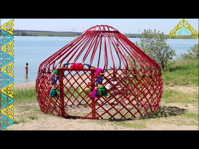 Kazakh Yurt. Built according to the most ancient traditions of nomads