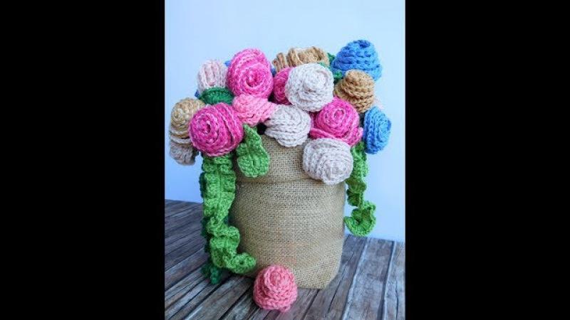 Rose a crochet di Rossella Garbin per creativemamy