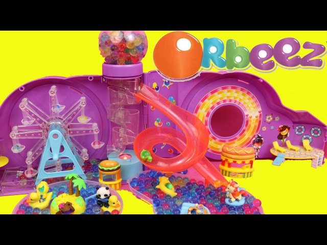 Orbeez Amusement Park Toy Planet Orbeez Adventure Park with Duck Pond, Roller Coaster Balloons