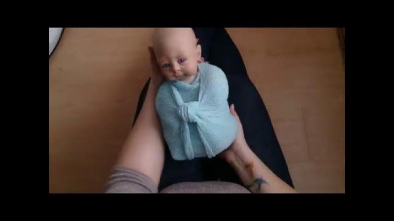 Анастасия Светлова слюбовьюодетях - способ обмотки новорожденного - Basic Newborn wrap