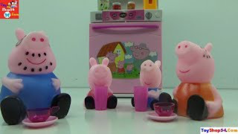 Bộ đồ chơi nấu ăn, nhà bếp gia đình Lợn Peppa Pig, Cooking set, Kitchen of Peppa Pig, ToyShop54