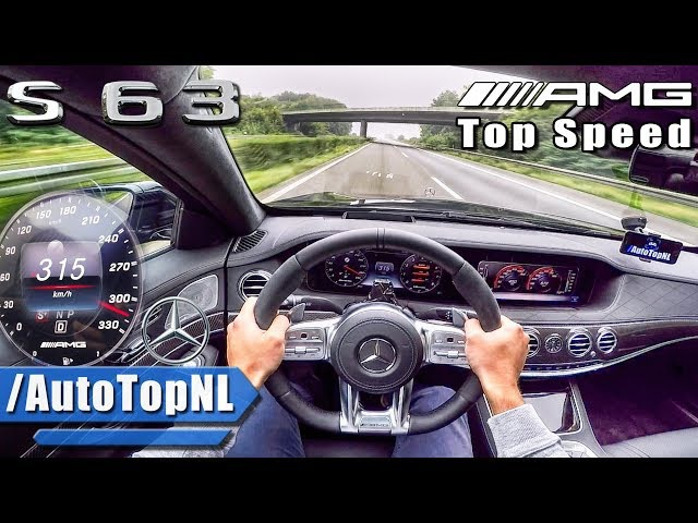 Mercedes S63 AMG 2018 ACCELERATION TOP SPEED AUTOBAHN POV by AutoTopNL