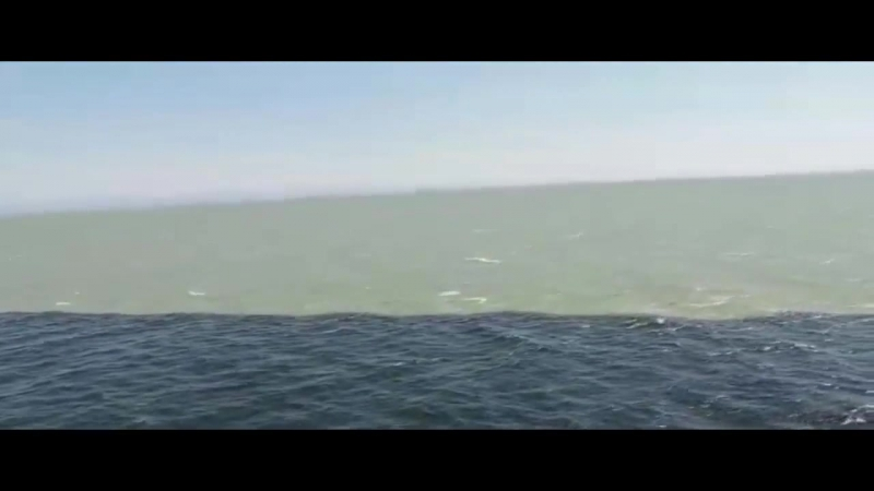 Слияние Тихого океана и Аляскинского залива.