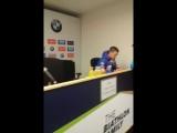 Пресс-конференция сборной России по биатлону после бронзы в эстафете