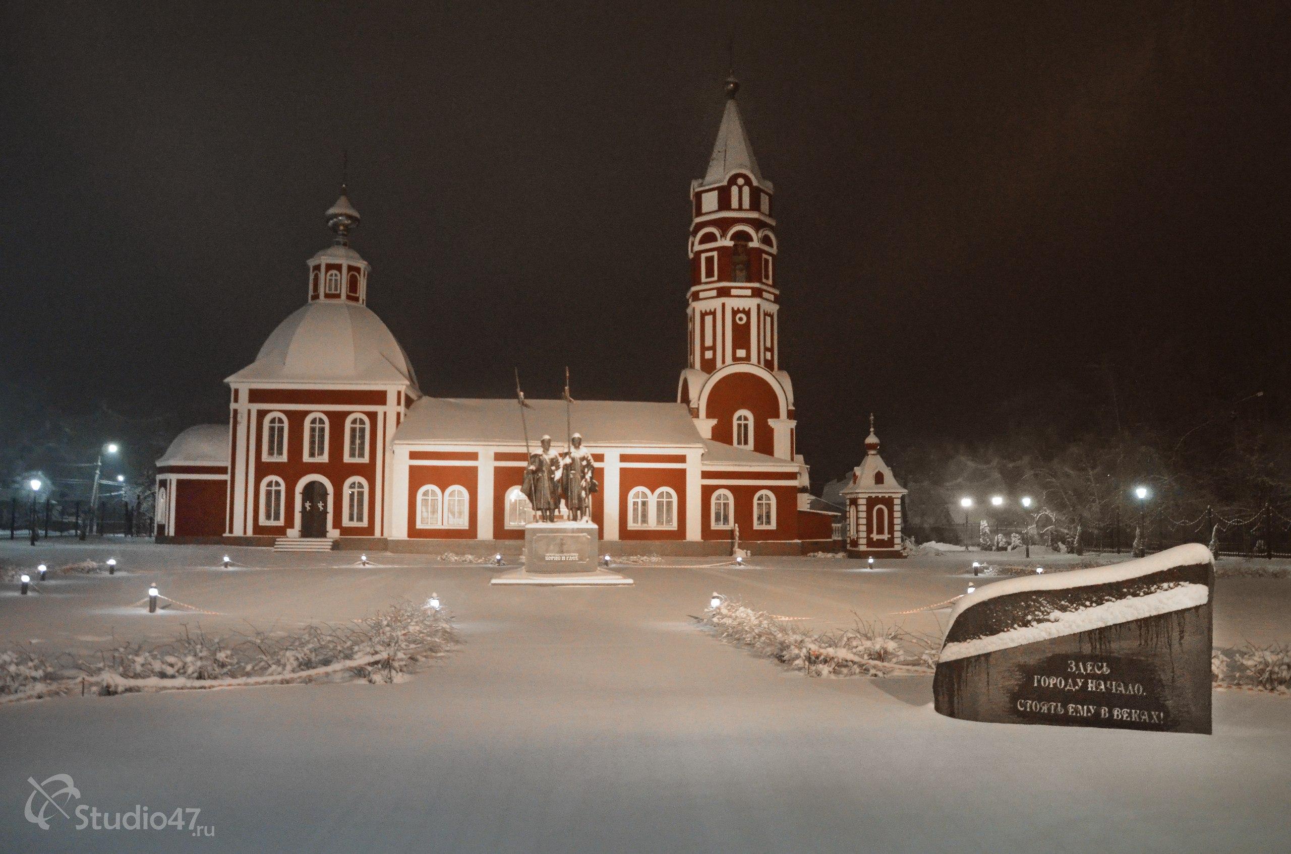 Памятник святым Борису и Глебу на Старособорной площади