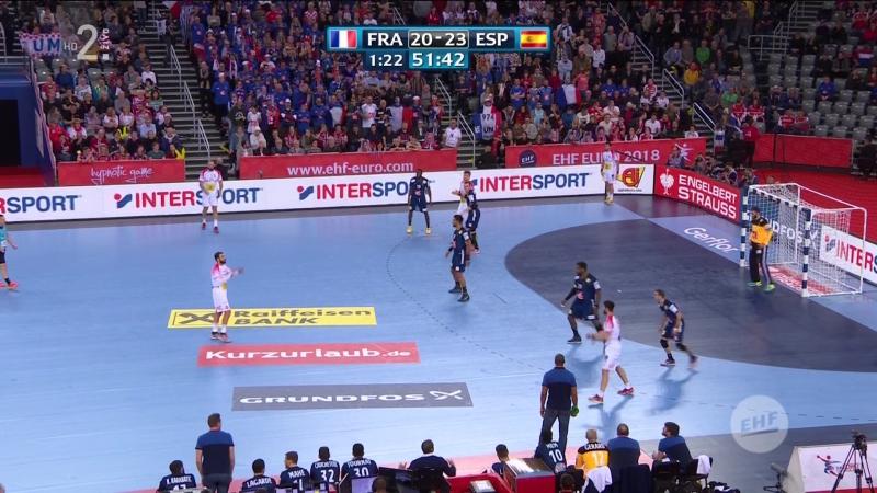 Francuska - Spanjolska 23-27, posljednjih 9 minuta (Polufinale, EURO CROATIA 2018), 26.01.2018. Full HD