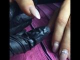 Носка. Ноготки с жемчужной втиркой и жемчугами Swarovski
