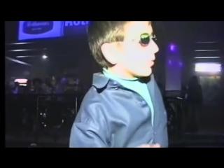 Russian kid dancing at club