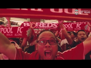 Indonesian supporters singing 'you'll never walk alone'