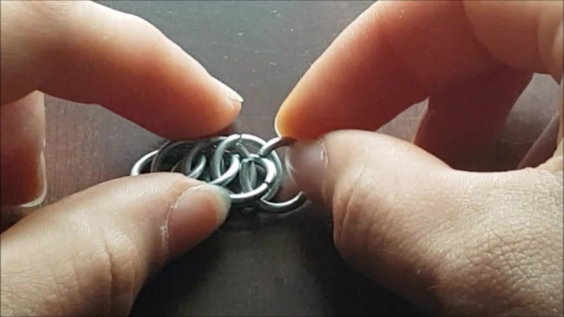 Kettenringe Kettenmuster Half Persian 4 in 1 Chainmaille TUTORIAL