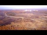 радиоактивное озеро КАРАЧАЙ с высоты.Южный Урал с дрона DJI Mavic Pro