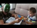ХАЛК Обзор Daddy Hulk Superhero in Real Life ХАЛК в РЕАЛЬНОЙ ЖИЗНИ Видео для детей