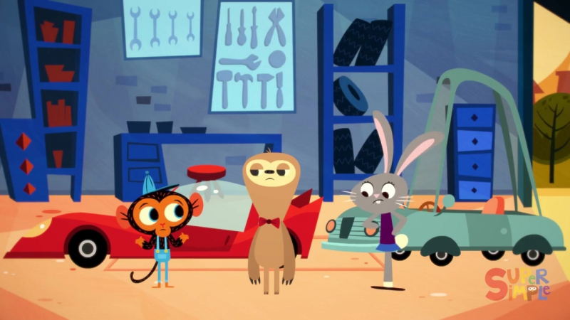 Mr. Sloths Car Is Too Fast Ms. Rabbits Car Is Too Slow! - Cartoon For Kids