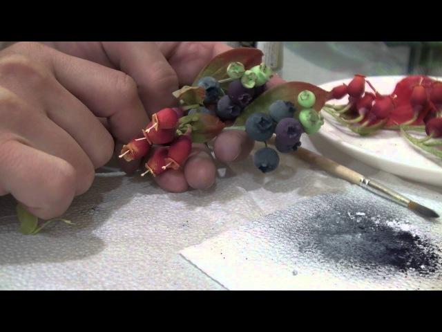 Сахарные ягоды и цветы голубика ежевика малина Sugar blueberries blackberries raspberries