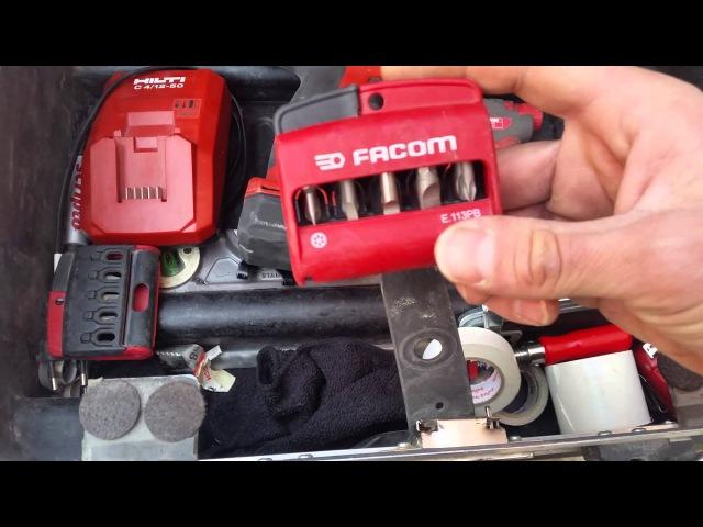 Hilti 12v и професиональный чемодан электромонтажника facom bv61