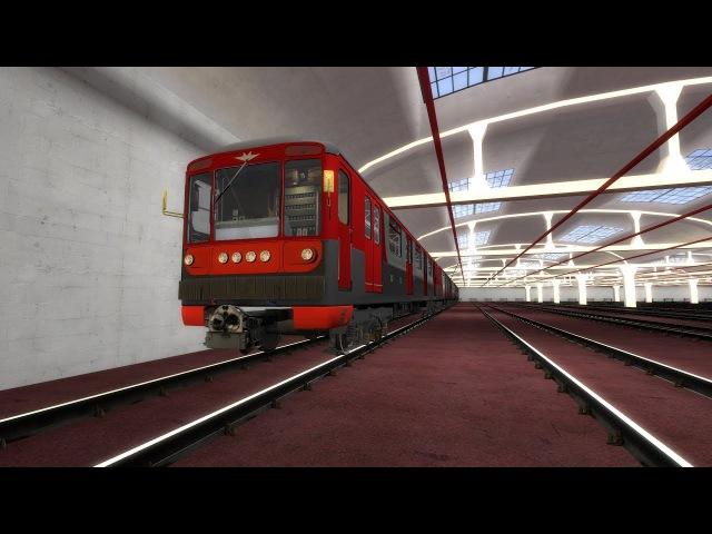 №1 Невско-Василеостровская линия на 81-717 (Metrostroi)