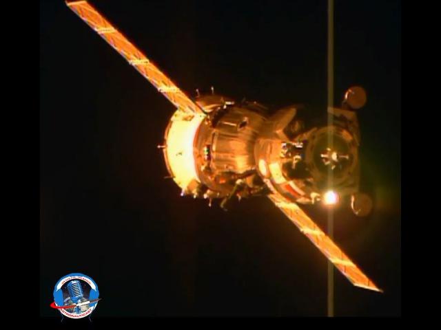 Lo stupore di Samantha Cristoforetti durante il docking della sua Soyuz