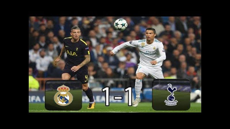 Real Madrid 1-1 Tottenham Chủ Nhà Bất Lực( Vòng Bảng uefa champions league 2017)