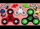 ♥ DIY Crea tu Fidget Spinner de Ladybug y Chat Noir Miraculous Ladybug ♥
